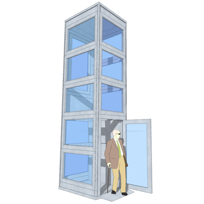 External elevator illustration | HYDRO-CON A/S